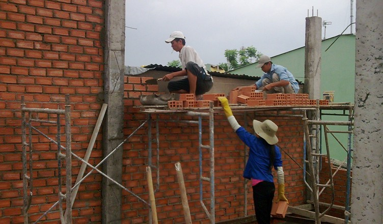 thợ xây trát ốp lát, Thợ ốp lát tường, xây trát có tay nghề Hà Nội